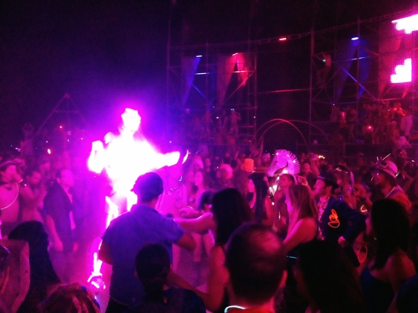 A Man all aglow at Burning Man Festival 2012. Pic by Bryan Reeves.