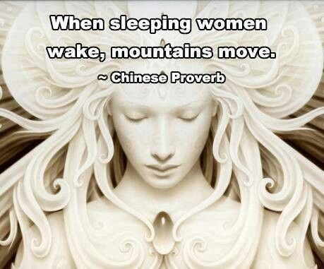 sleeping women wake