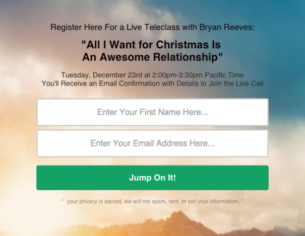 All i want for christmas awesome relationship free webinar sign up
