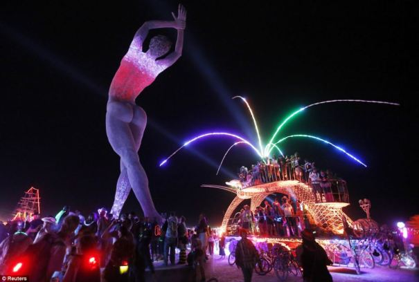 burning man lady